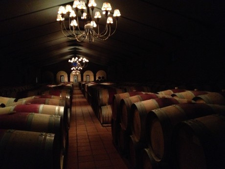 "Serene and beautiful, ""The Cathedral"" red wine barrel room at Waterford"